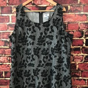 Old Navy 3x peplum sleeveless floral shirt top